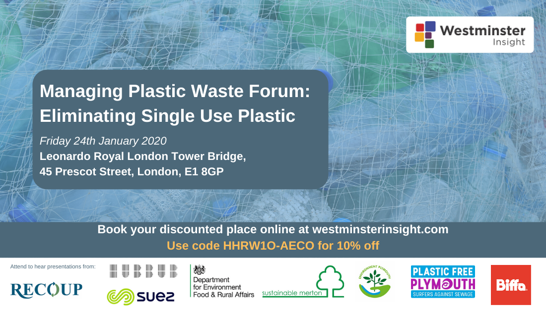 Managing Plastic Waste Forum: Eliminating Single Use Plastic