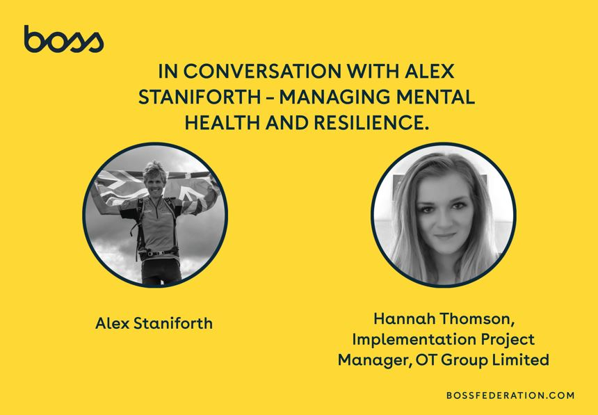 BOSS LOTF in conversation with Alex Staniforth - managing mental health and resilience
